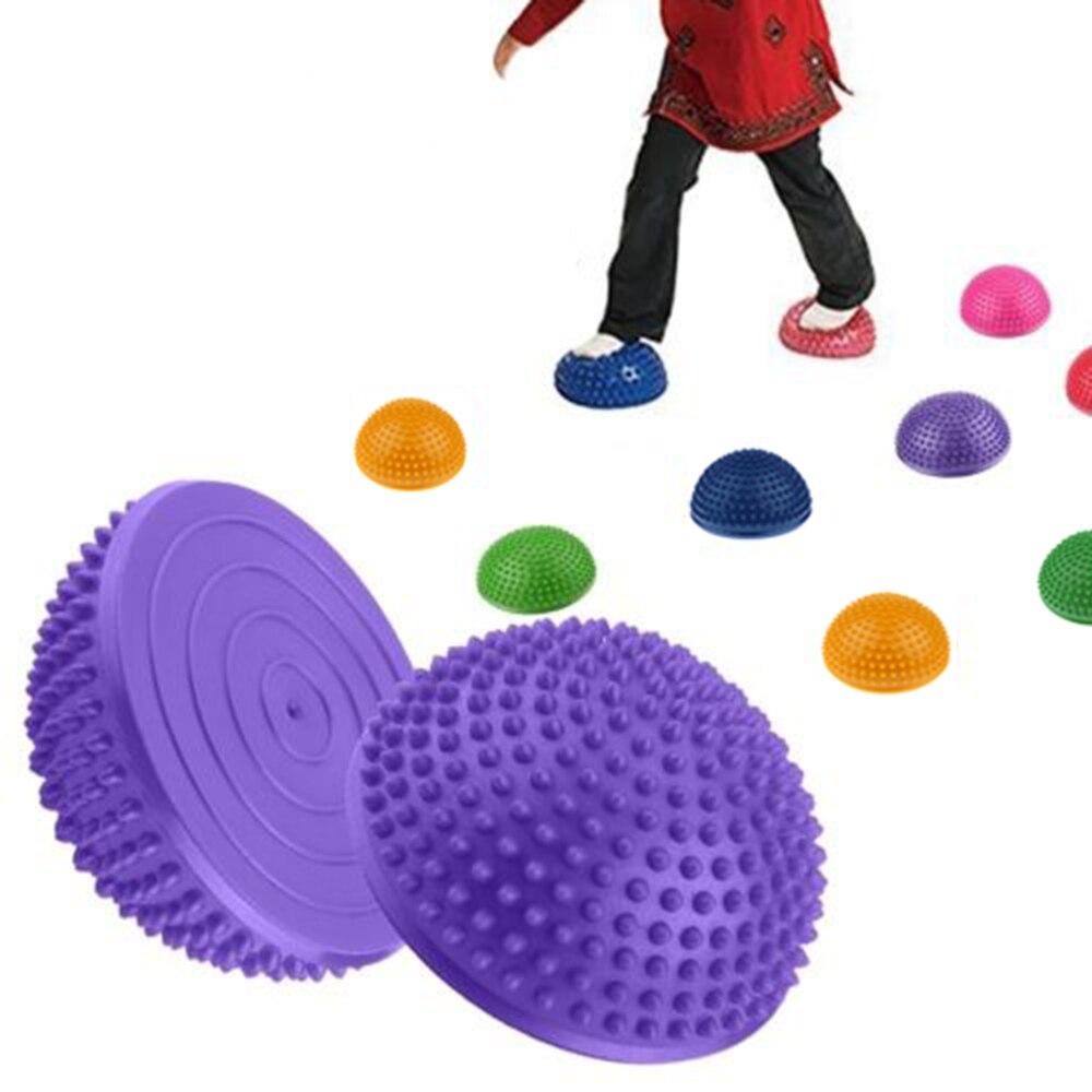 @1  6 шт ПВХ Надувные Йога Половина мяч Акупрессура Массаж Половина мяч Упражнения Баланс ①