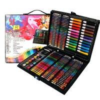 208pcs Drawing Gift Set Art Marker Watercolor Brush Pen Crayon Palette For Kids Gift Box Art Painting Supplies