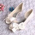 Горячая распродажа кот женщина свадебные туфли невесты пип-ноги big-луки размер 10.5