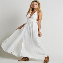 Top Design Sexy Women Dress Cotton Strapless V-neck Off Shoulder Bodycon Dress Solid Backless Draped Side Slits Summer Robe