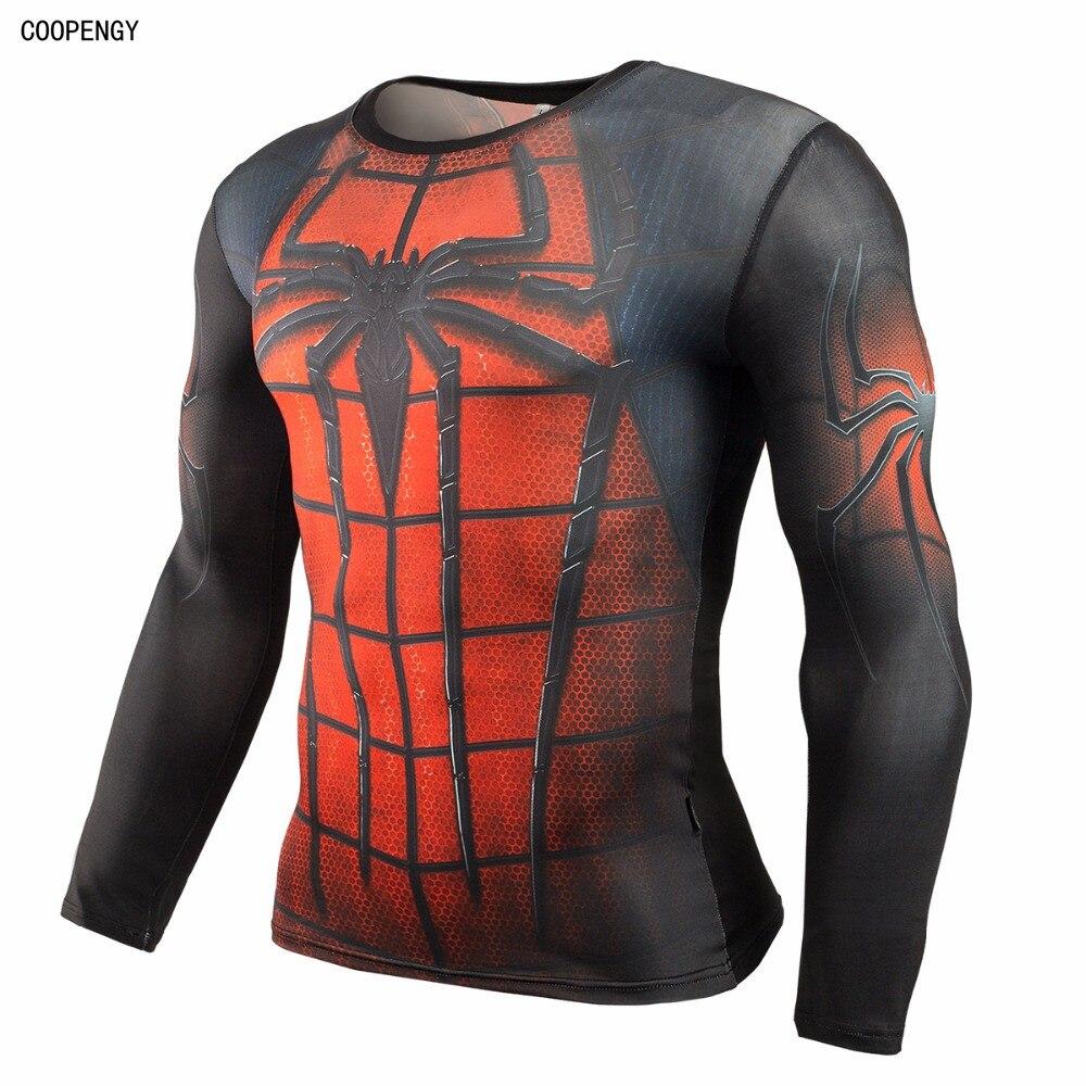 Homens 2016 do homem-aranha ironman capitão América camisa de compressão  herói da marvel comics soldados do crime eaa23904e0640