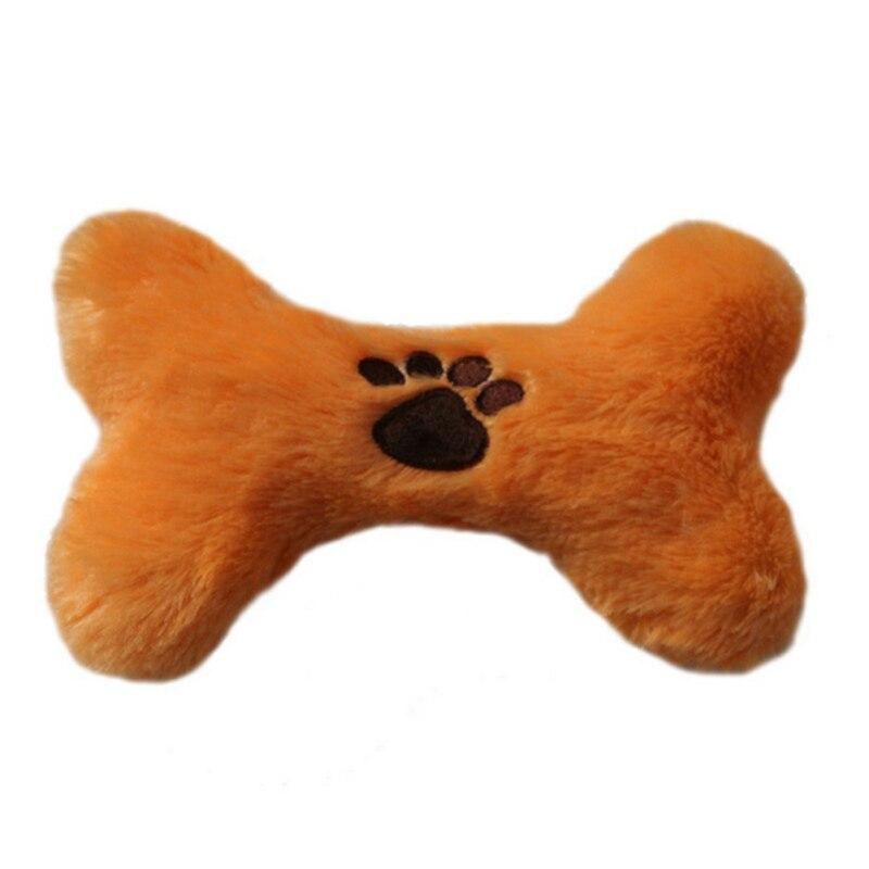 Плюшевые домашние животные Собака звук Игрушечные лошадки Bone Форма Щенок Чу пищалка Squeaky игрушка интересная Игрушечные лошадки