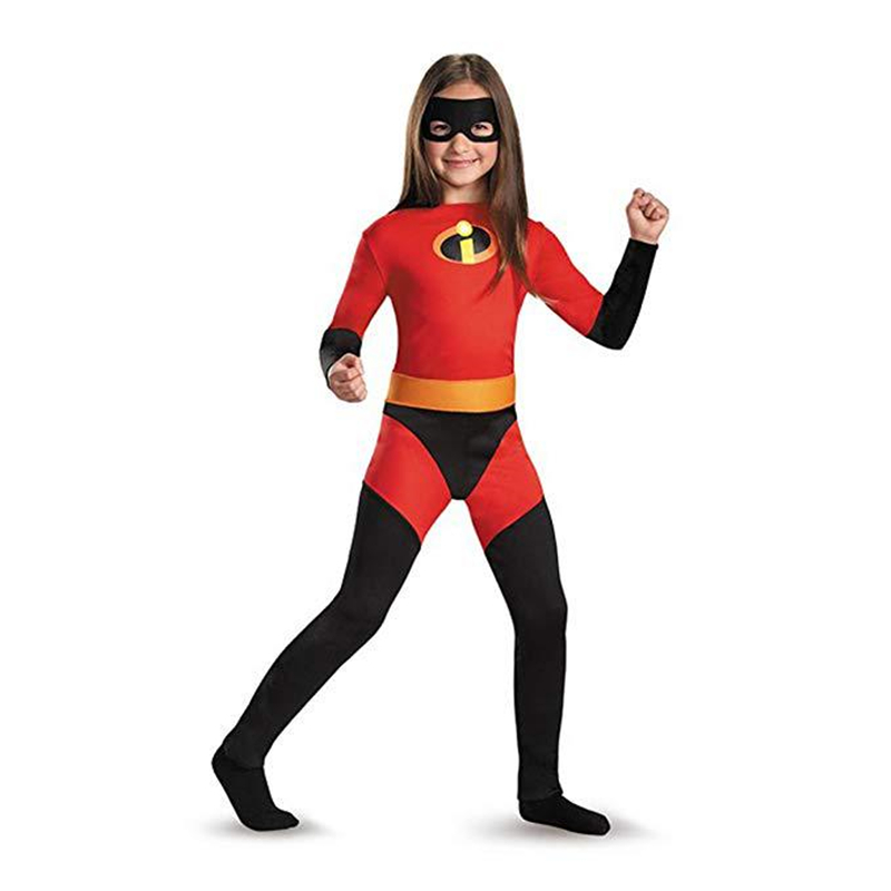 2018 NEW Girls The Incredibles 2 Costume Halloween Purim Costume For Kids Role Play Party Cosplay Anime Clothing
