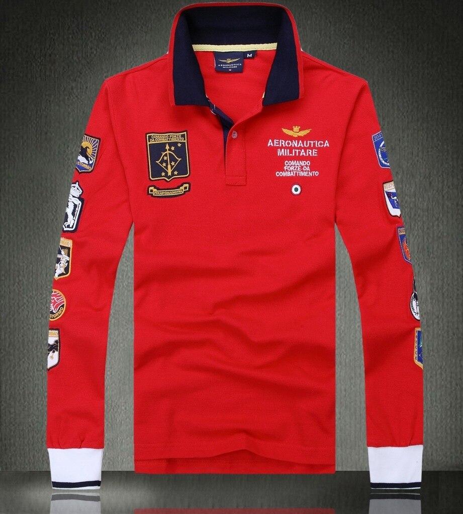 2017 nouveau Mode casual marque hommes d'été 100% coton longue armée manches polo shirt hommes de Haute Qualité polo vêtements pour hommes #988