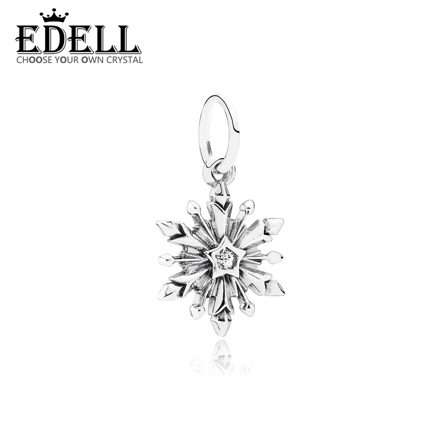 EDELL 100% 925 Sterling Silver 1:1 791564CZ Original Women Wedding Fashion Jewelry