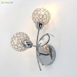 Dekoracyjna Art Deco nowoczesna kryształowa ściana światło sypialnia Led kryształowa lampka nocna wzór europejski salon narożna kinkiet