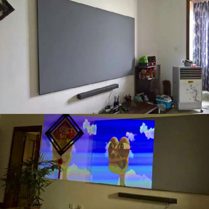 1 4 3m Projector Screen Attractive Reflective Fabric Cloth Projection Screen For XGIMI H1 H1S Z5