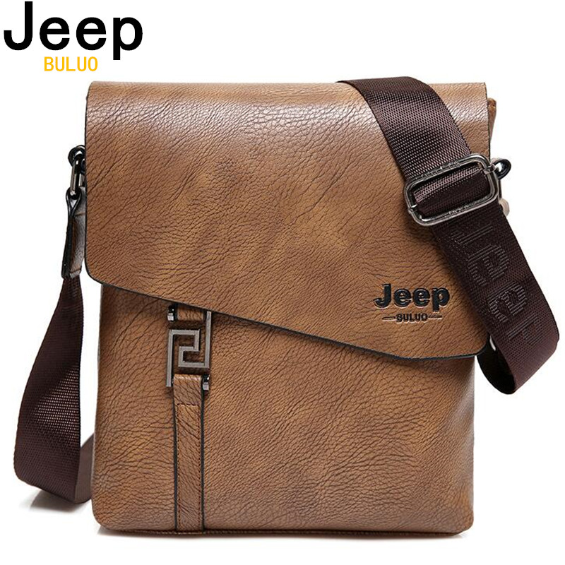 JEEP BULUO Fashion Men Bags Waterproof Cow Split Leather Messenger Bag Business Briefcase Crossbody Bags Male Shoulder Bag 5846