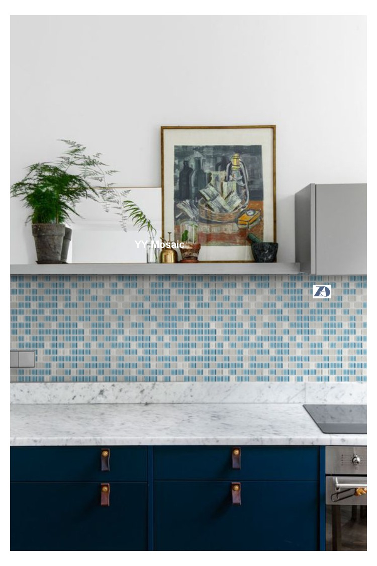 Mediterranean blue white glass mosaic wall tile yy 75 kitchen mediterranean blue white glass mosaic wall tile yy 75 kitchen backsplash tv background puzzle bathroom shower living fireplace in wallpapers from home dailygadgetfo Gallery