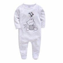 Kavkas/рождественские детские комбинезоны; костюм с вышивкой медведя; Одежда для новорожденных с длинными рукавами; весенняя одежда для новорожденных
