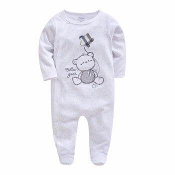 4c771ddfb Kavkaz Navidad Baby Rompers traje bordado oso niños recién nacidos ropa de  manga larga primavera ropa