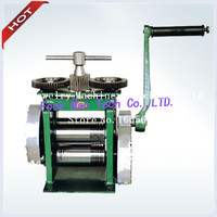 Hand Operate mini gold Rolling Mill , jewelry rolling mill with Maximum opening 0 5 mm, tablet press machine