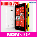 Двухъядерный Оригинал Nokia Lumia 720 WIFI 4.3 Дюймов GPS ОПЕРАЦИОННАЯ СИСТЕМА Windows 8 ГБ Встроенной Памяти, 512 МБ ОЗУ Разблокирована Бесплатная Доставка