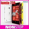 Doble núcleo original de nokia lumia 720 wifi 4.3 pulgadas de gps sistema operativo windows 8 gb de memoria interna ram 512 desbloqueado envío gratis