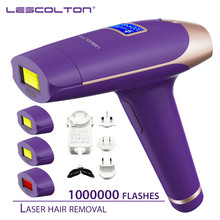 Lescolton depilador laser ipl 700000 vezes, máquina depiladora com display lcd, remoção de pelos para axilas, biquini