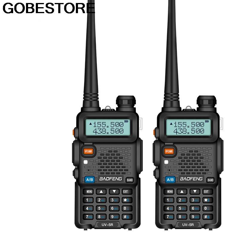 2Pcs BaoFeng UV-5R Walkie Talkie VHF/UHF136-174Mhz&400-520Mhz Dual Band Two Way Radio Pofung Uv 5r Portable Walkie Talkie Uv5r(China)