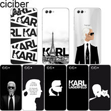 ciciber For Honor Y 9 7 6 5 3 Prime Pro 2017 2018 2019 Soft For honor V 10 8 9 Lite Pro X C Clear TPU Phone Cases Karl Lagerfeld(China)