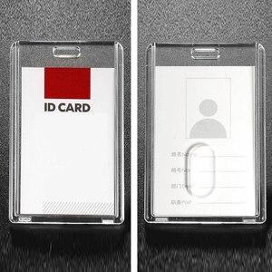 Image 5 - Przezroczyste 5 sztuk w pionie styl akrylowy uchwyt identyfikacyjny z chowany odznaka Reel smycz na identyfikator moda szkoła dla szpitali