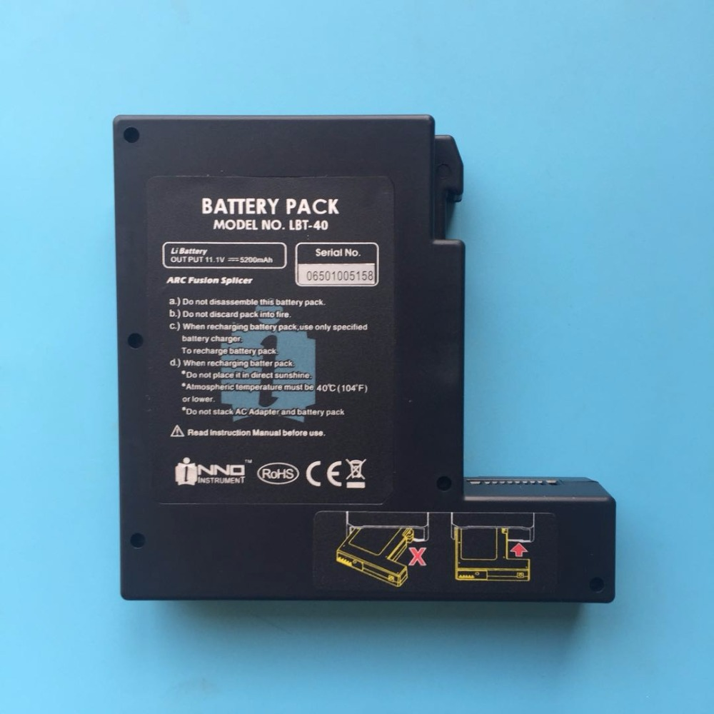 Original INNO IFS-5 IFS-15 IFS-15H IFS-16 IFS-15S view3 view5 Optical Fiber Fusion Splicer Batter Pack LBT-40