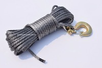 Grey 6mm 15m Synthetic Rope ATV Winch Line 6mm Boat Winch Cable ATV Winch Accessaries Spectra