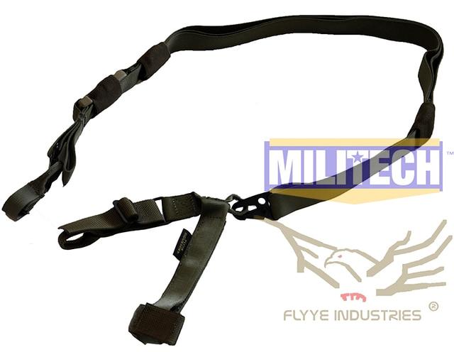 Especificaciones militares Ranger Verde Tactical Rifle Tres Puntos Sling FLYYE FY-SL-S003 Triple Puntos Sling