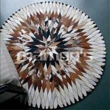 Импортный ковер из коровьей кожи диаметром 100 см, 150 см, круглые напольные ковры для гостиной, ванной комнаты, круглый коврик, Круглый напольный коврик