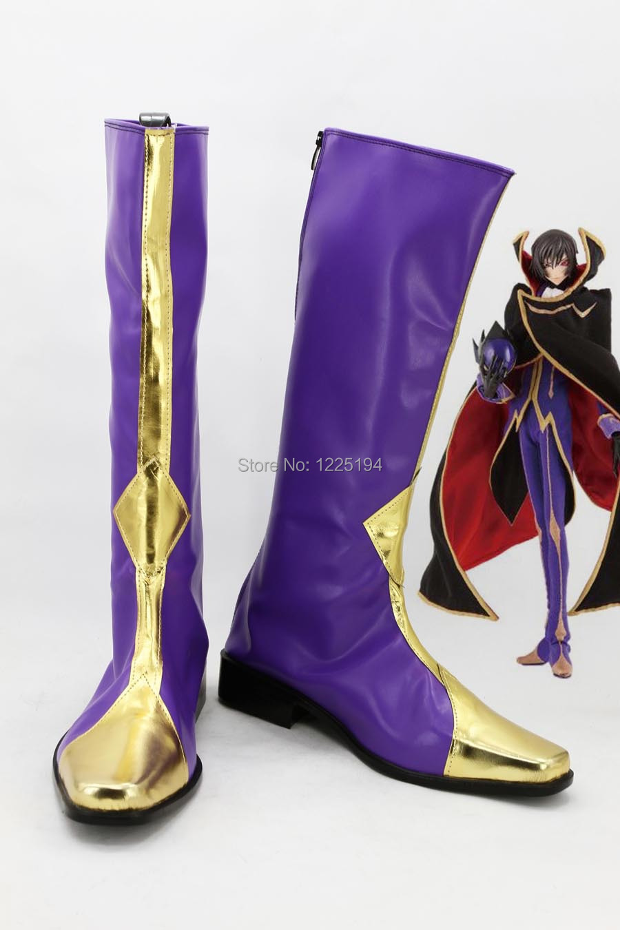 CODE GEASS Shoes Lelouch of the Rebellion Zero Boots Shoes Anime Cosplay EU US Size Custom Made For Girl цена
