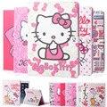 Cute Hello Kitty Стенд Магнитные Смарт Tablet Case Чехол Для Apple iPad mini 4 Case Cover Girl Дети Подарок + пленка