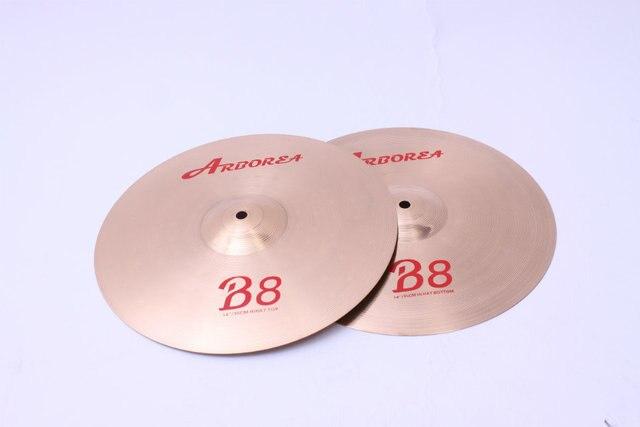 "Arborea B8 series 4 Cymbals set: 14"" hihat+16""crash+18""crash ride+20""ride+8""splash+cymbal bag 5"