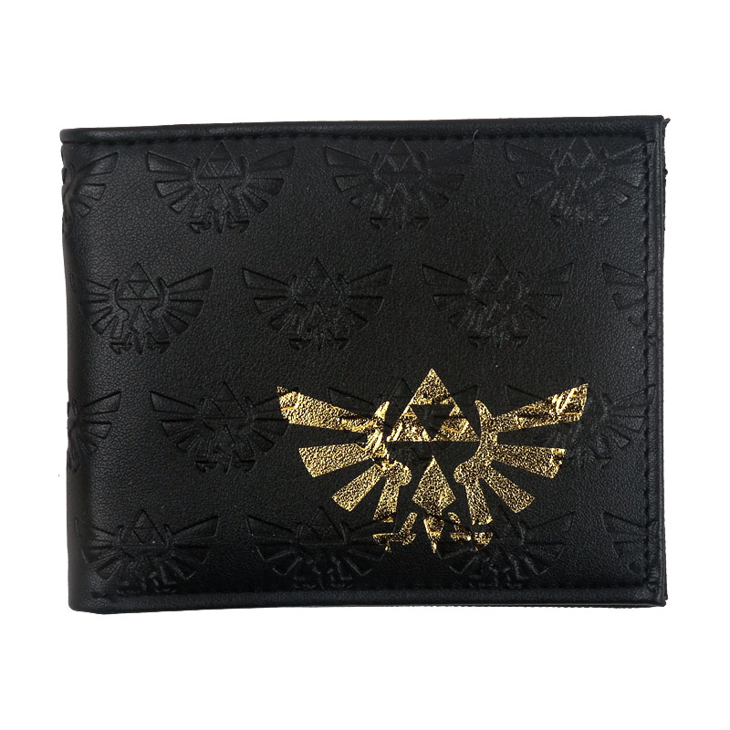 The Legend of Zelda Gold Triforce Black Imprint Bi-Fold WALLET W1110Q брелок с подсветкой the legend of zelda triforce