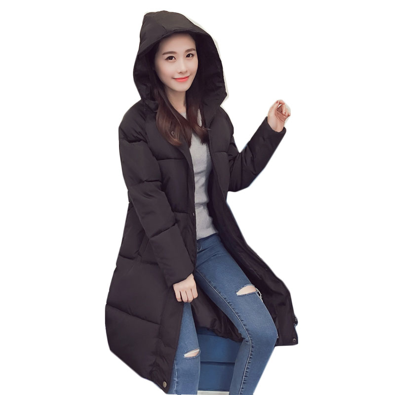 Long Parkas Winter Jacket Down Winter Coat Women Long Jacket Women Sparrows Woman Clothes Girls Long Cotton-padded Loose Coat pregnant women of han edition easy to film a word long woman with thick cotton padded clothes coat quilted jacket down jacket