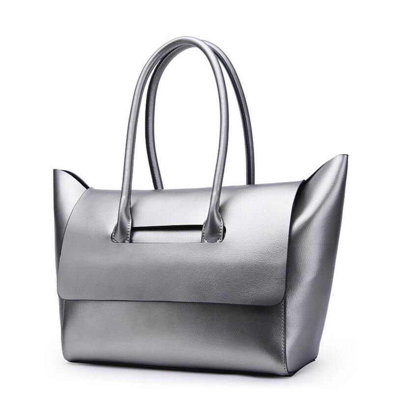 Foxtail Lily Brand Women Genuine Leather Designer Handbags High Quality Large Capacity Practical Casual Tote Shoulder Bag Hot In Bags From