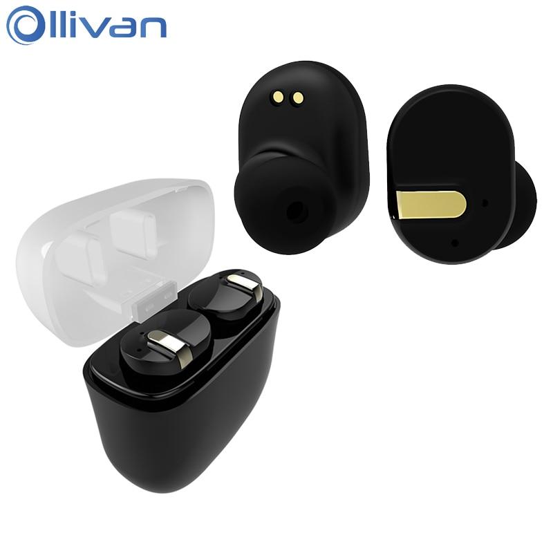 Ollivan TWS I8 Bluetooth Earphone Stereo Earbuds Super Bass Wireless Headset Waterproof TWS-i8 Audifonos With Charging Seat bluetooth headphones original jabees bsport bt4 0 headset wireless waterproof earphone earbuds audifonos for running biking
