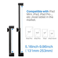 Tablet PC Tripod Extendable Stand Aluminum Holder with Quick Release Plate for iPad Mini/4/Pro/Surface Pro