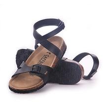 43 bigs plus Quer knoechelriemchen frauen kork sandalen 2016 neue einfarbig weiblichen beiläufigen sommer schuhe sandales femmes