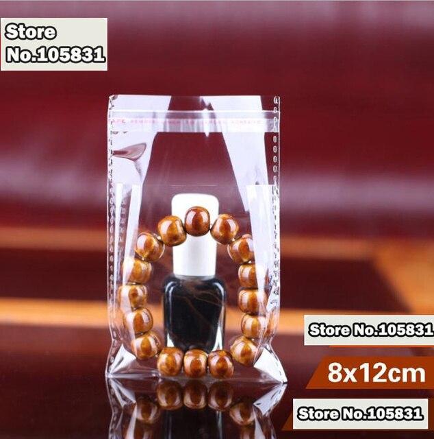 Cellophane claire refermable 100x   Sac Poly sac Opp Transparent, sacs en plastique, Logo personnalisé imprimé à sceau auto-adhésif