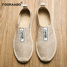 2019 Man Summer Casual Shoes Breathable Men's Loafers Flats Hemp Lazy Canvas Flats For Men Cheap Male Footwear Driving Shoes цена 2017