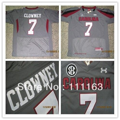 6ce5d8fa2 2012 new style south carolina gamecocks 7 jadeveon clowney battle gray  college football jersey