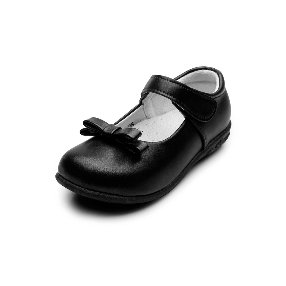 Black dress sandals for wedding - Msmax Genuine Leather Children School Shoes Girls Butterfly Knot Breathable Black Dress Party Shoes Kids