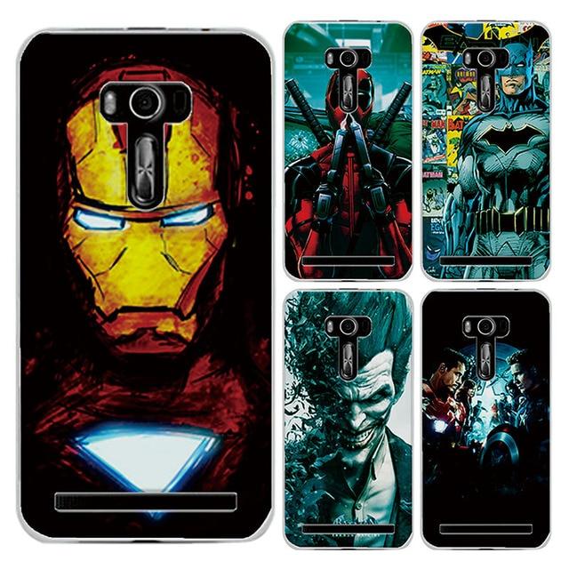 Pour Asus Zenfone Selfie ZD551KL 55 Housse Charmant Marvel Avengers Captain America Iron Man
