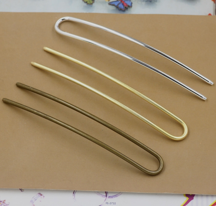 10pcs/lot 100mm hair clip bobby pin jewelry findings silver/gold/bronze plated option