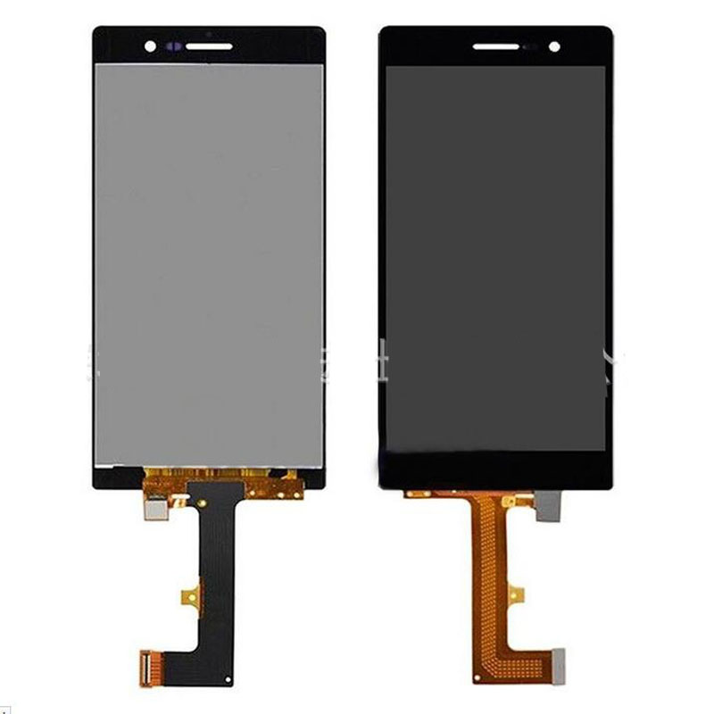 ФОТО New  Black Touch Screen Digitizer Glass Sensor+LCD Display Panel Screen For Huawei Ascend P7 5.0