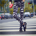2017 printed outside exercise joggers men casual pants Straight slim skinny pantalon homme Camouflage cargo pants tight trousers