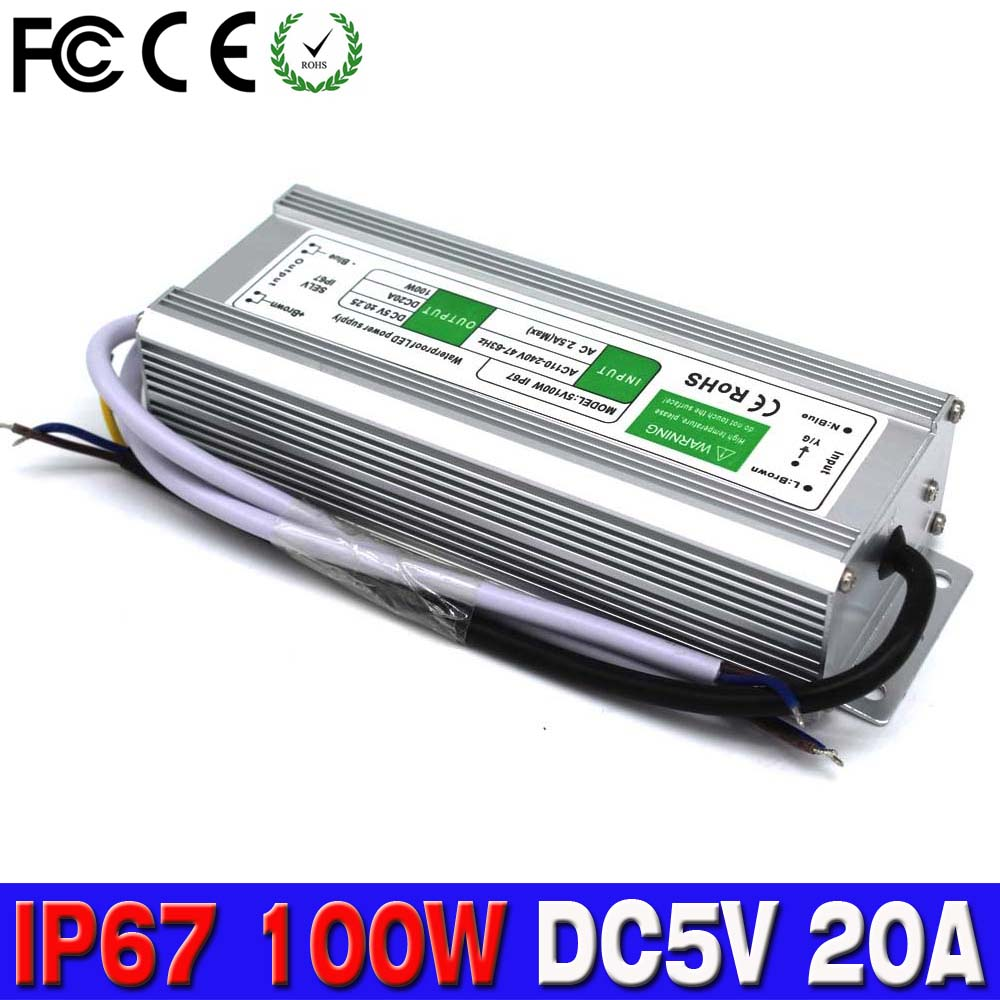 Electronic LED Driver 5V 100W Outdoor Waterproof ...