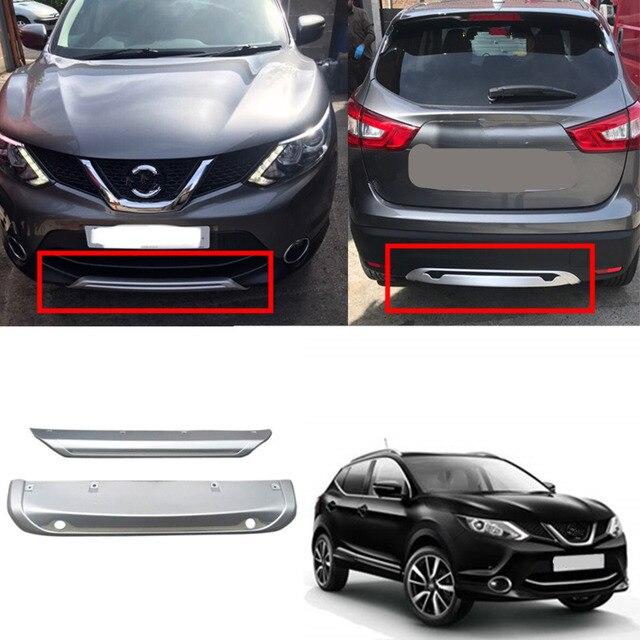 Convient pour Nissan Qashqai Dualis J11 2014 2015 2016 2017 ABS voiture extérieur avant et arrière pare-chocs protecteur de protection plaque de protection 2 pièces