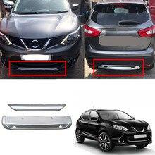 Fit For Nissan Qashqai Dualis J11 2014 2015 2016 2017 ABS Car Exterior Front & Rear Bumper Skid Protector Guard Plate Cover 2PCS