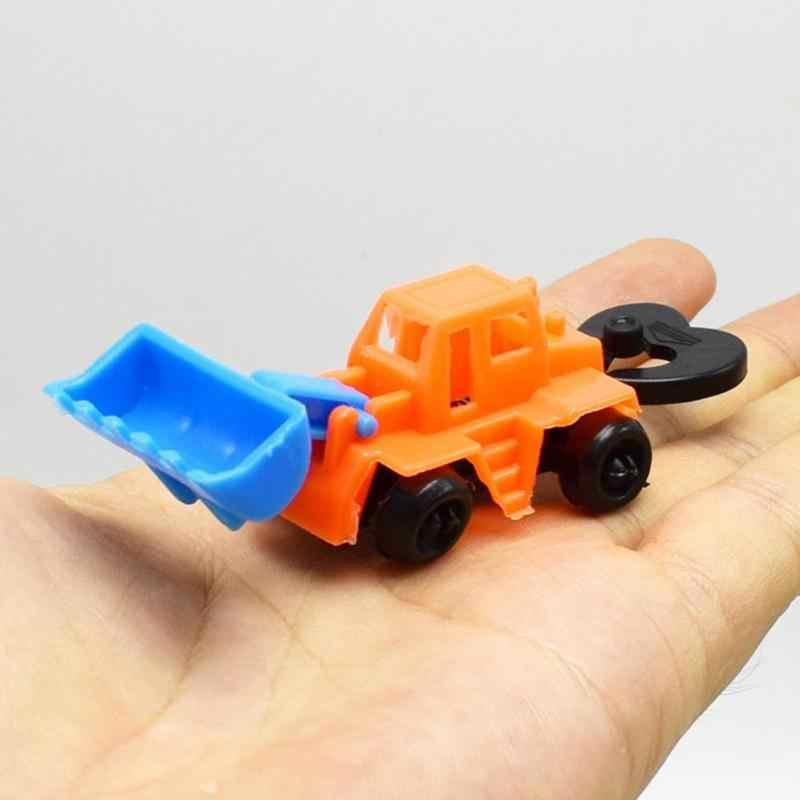 Kendaraan Mini Teknik Mobil Traktor Mainan Dump Truk Model Mainan Mobil Anak Hadiah Set Warna Acak