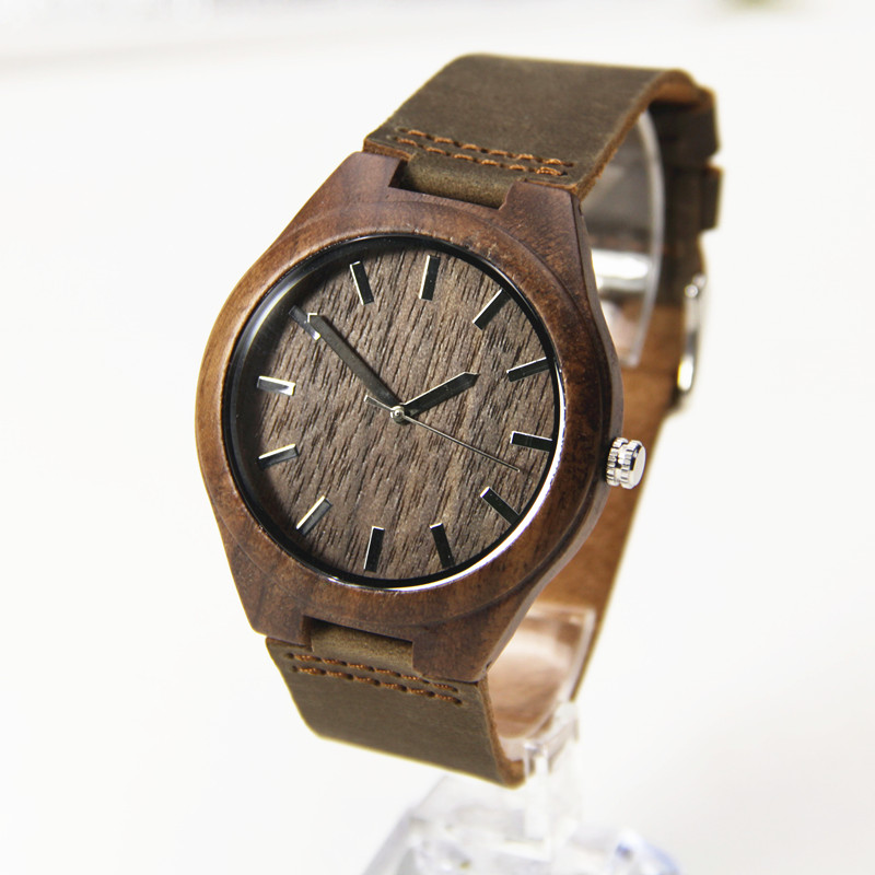 Walnut Wooden Wristwatches Janpen Movement For Men Women Classical Luxury Brand Watch With Gift Box Friendly Environment