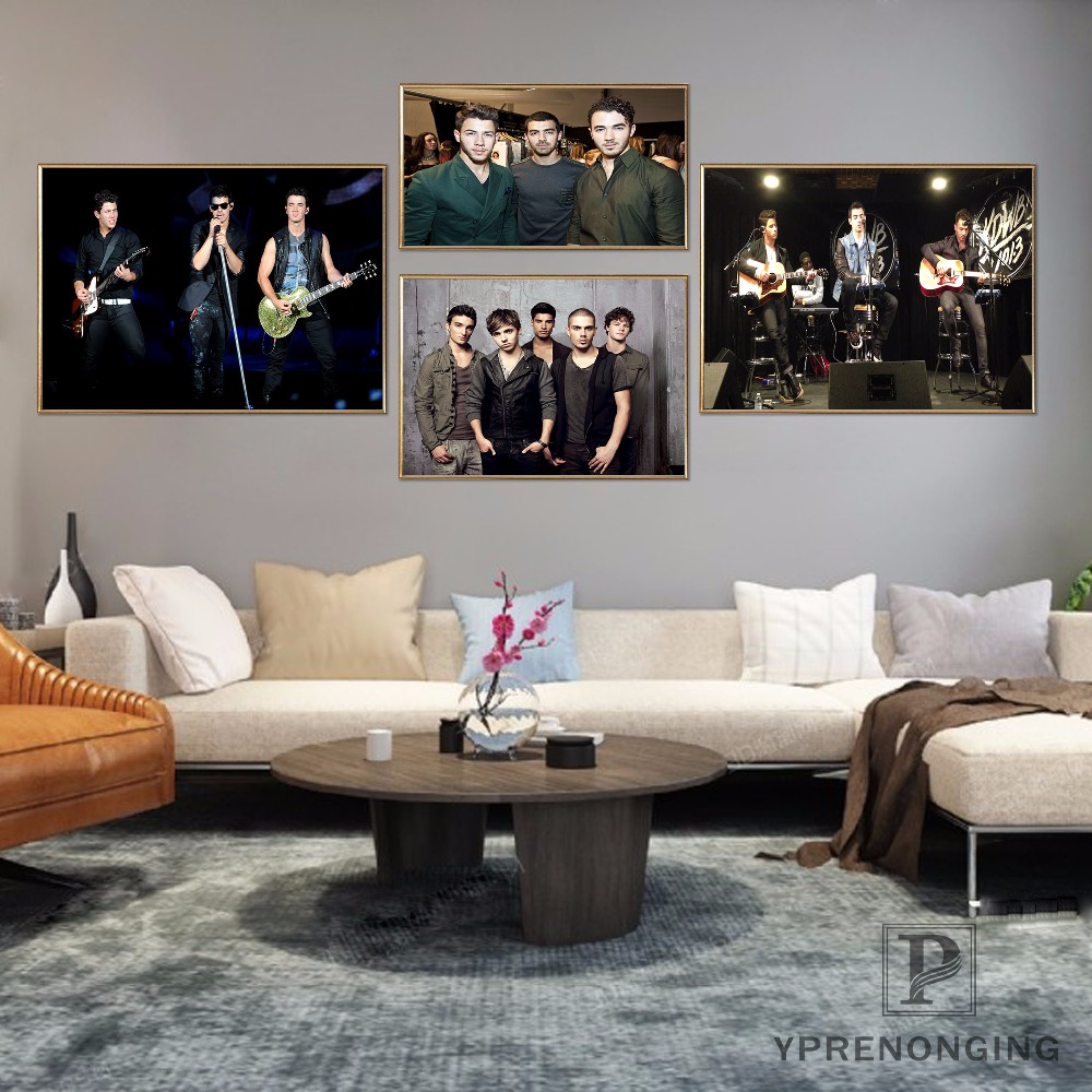 Custom Jonas Brothers Poster Art Home Decor Canvas