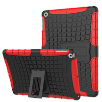 Tire Pattern Robot Silicon Heavy Duty Rugged Armor Hybrid Kick Stand TPU PC Shockproof Cover Case